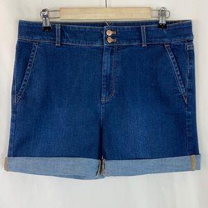 Talbots Flawless High-Waist Wide Crop Jean Shorts